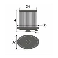 Sportovní filtr Green TALBOT 1100 1,3L Ti rok výroby 75-